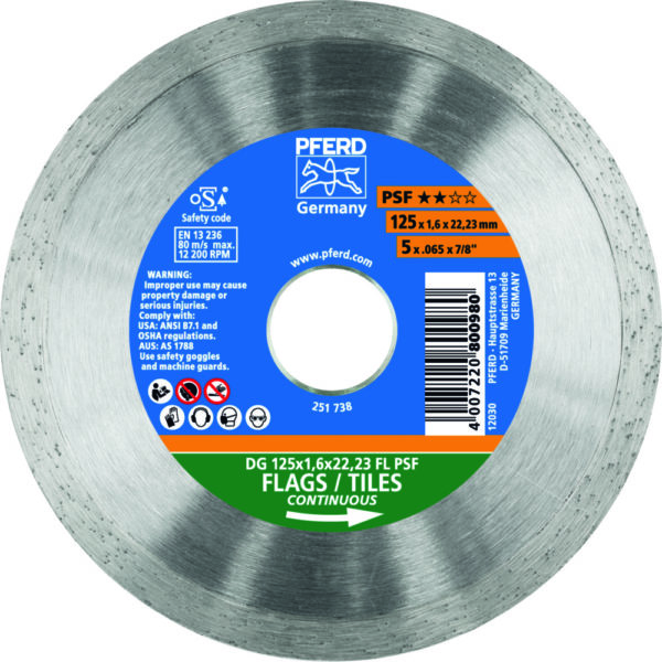 Алмазный отрезной круг DG FL PSF
