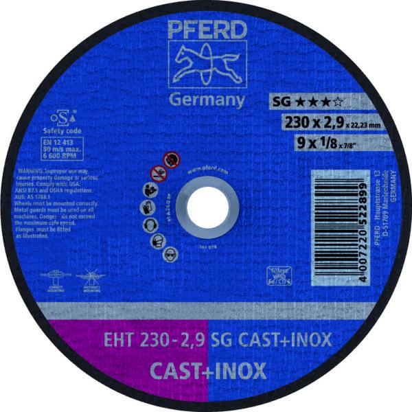 Круг отрезной SG CAST + INOX
